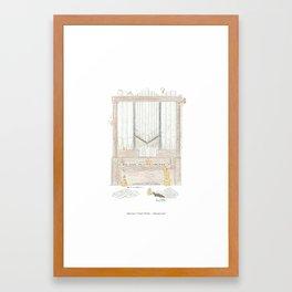 Owl Aboard the Organ! Framed Art Print