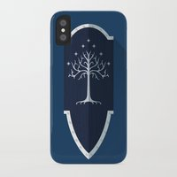 lotr iPhone & iPod Cases featuring Shield of Gondor by DWatson