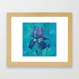 Purple Iris Artwork Framed Art Print