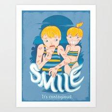 Smile: It's contagious. Art Print