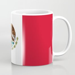 The Mexican national flag - Authentic high quality file Coffee Mug