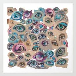 eyes galore Art Print