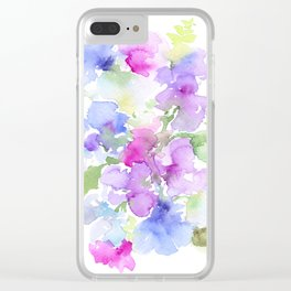 A Mess of Sweetpeas 2 Clear iPhone Case