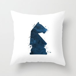 Chess Knight Throw Pillow