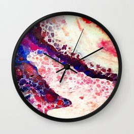 A Modern Leopard Print Abstract Wall Clock