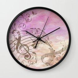 Music Notes Flutter 2 Wall Clock