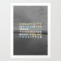 creativity Art Prints featuring Creativity by IAMTHELAB