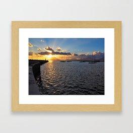 Sunset at Arrecife Framed Art Print