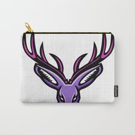 Jackalope Head Mascot Carry-All Pouch