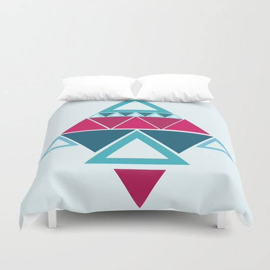 a few triangles making a pattern Duvet Cover