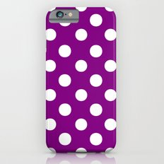 Polka Dots (White/Purple) iPhone 6s Slim Case