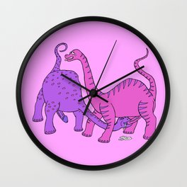 Before Time Began I (pink) Wall Clock