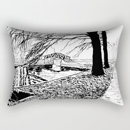 Et le jardin apparut  / And the garden appeared Rectangular Pillow