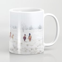 Winter Horses Coffee Mug
