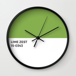 Lime Zest Pantone Chip • Green • Summer • Margarita • Foodie • Kitchen • Simple Print • Bold Color Wall Clock