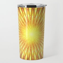 Rays of GOLD SUN abstracts Travel Mug