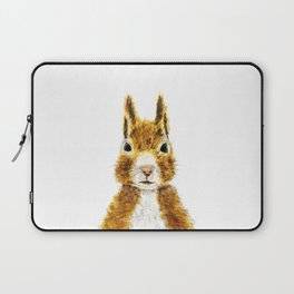 cute little squirrel watercolor Laptop Sleeve