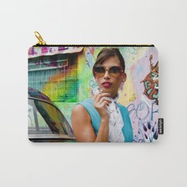 Woman and graffitti Carry-All Pouch