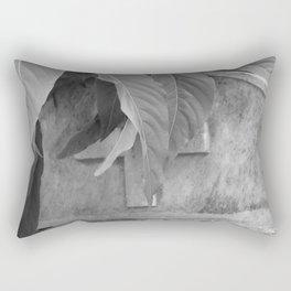 grave under leafs Rectangular Pillow