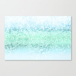 Aqua Seafoam Ocean Glitter #1 #shiny #pastel #decor #art #society6 Canvas Print