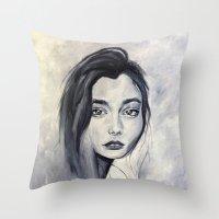 karen Throw Pillows featuring Karen by Pamela Schaefer