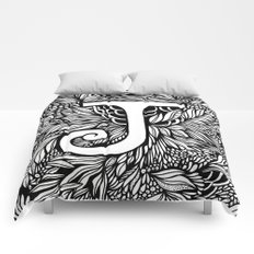 Letter J Comforters