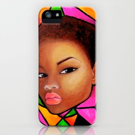 Wise Afro Natural hair iPhone Case