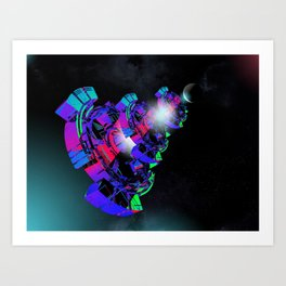 Space Floater Art Print