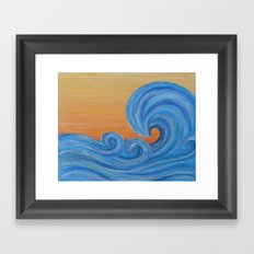 Sea Ya Later surf wave art painting Framed Art Print