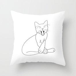 Time Fur a Cat Nap Throw Pillow