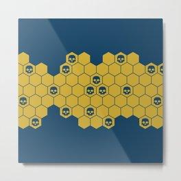 Honey Skulls - Blue Metal Print