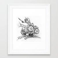 tank girl Framed Art Prints featuring Tank girl by Jimmysan !!