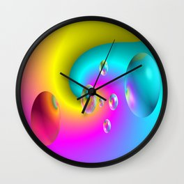 Paintballs Wall Clock