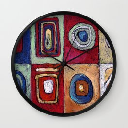 Buffet - abstract multi-colored pastel drawing. Good painting for a modern interior Wall Clock