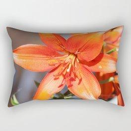Orange Day Lily Rectangular Pillow