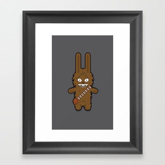 Sr. Trolo / Chewbacca gray Framed Art Print