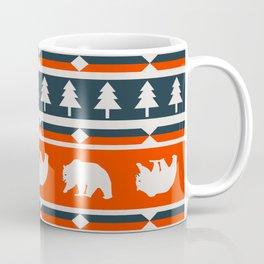 Winter bears and trees Coffee Mug
