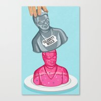 celebrity Canvas Prints featuring Instant celebrity by John Holcroft
