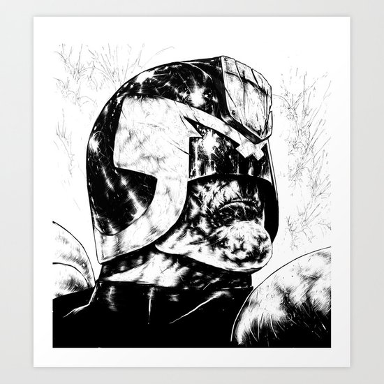 Dredd - Clean Art Print