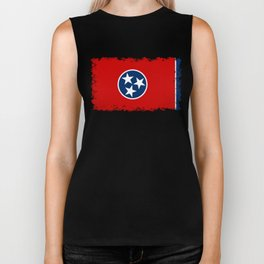 State flag of Tennessee - Authentic version Biker Tank