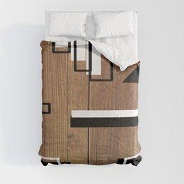 WOOd to BLAck WhiTE bang Comforters