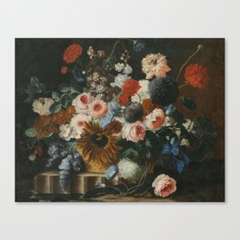 Franz Werner Tamm Still Life With Flowers On a Stone Ledge Canvas Print
