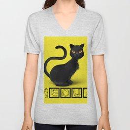 Meouz Cat Unisex V-Neck