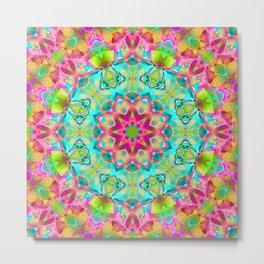 kaleidoscope Flower Abstract G119 Metal Print