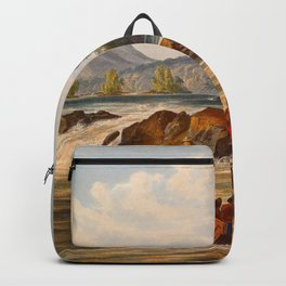 Brazilian Fort St Cabriel Illustrations Of Guyana South America Natural Scenes Hand Drawn Backpack