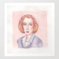 scully Art Prints featuring Scully by libbygrace
