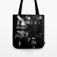 dalek Tote Bags featuring Dalek by zerobriant