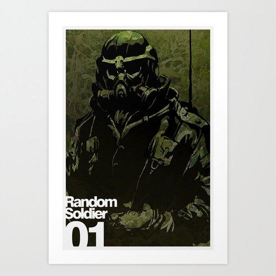 Random Solider 01 Art Print