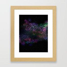 Violet Stars Framed Art Print