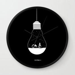 white christmas Wall Clock